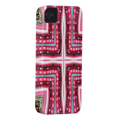 Whimsical Pink Cross iPhone 4 Covers