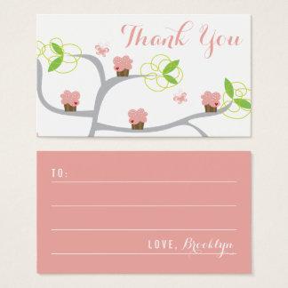 Whimsical Pink Cupcakes Tree Birthday DIY Gift Tag