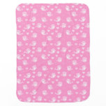 Whimsical Pink Dolphins Love Cartoon Baby Blanket