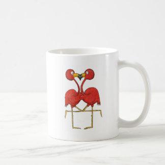 Whimsical Pink Flamingo Couple Love Happy Coffee Mug