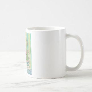 Whimsical Pink Flamingo Does Laundry Cute Coffee Mug