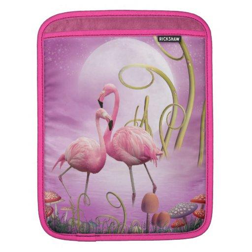 Whimsical Pink Flamingos iPad Sleeve