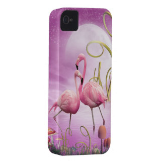 Whimsical Pink Flamingos iPhone 4 Case