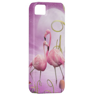 Whimsical Pink Flamingos iPhone 5 Case