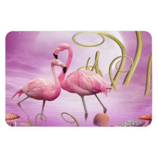 Whimsical Pink Flamingos Magnet