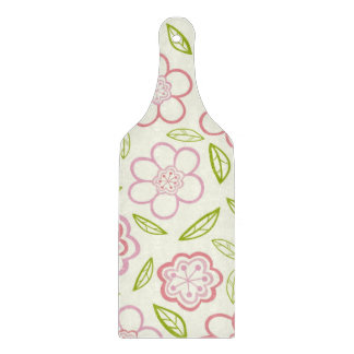 Whimsical Pink Flowers Design Cutting Boards