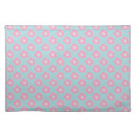 Whimsical Pink Flowers Place Mat