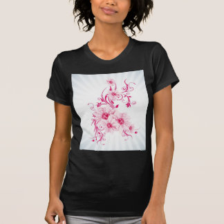 Whimsical Pink Flowers T Shirt