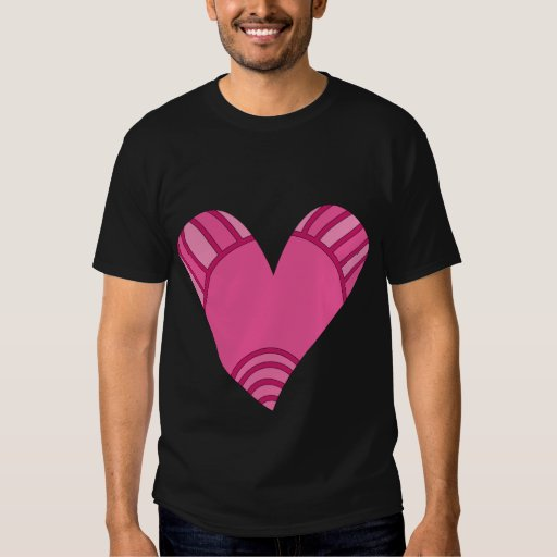 Whimsical pink heart doodle T-Shirt