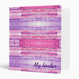 whimsical pink purple watercolor brush strokes 3 ring binder