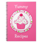Whimsical Pink Recipe Notebook