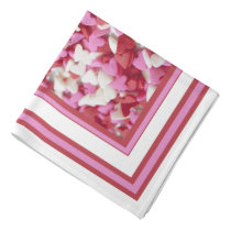 Whimsical Pink Red Candy Hearts Bandana