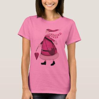 Whimsical Pink Retro Vintage Santa Claus T-Shirt