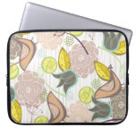 Whimsical Pink Sweet Birds Floral Laptop Sleeve