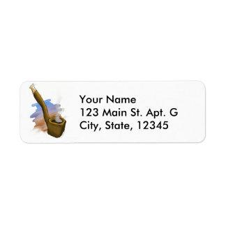 Whimsical Pipe Illustration Address Label