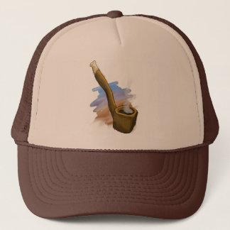 Whimsical Pipe Illustration Hat