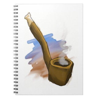 Whimsical Pipe Illustration Notebook