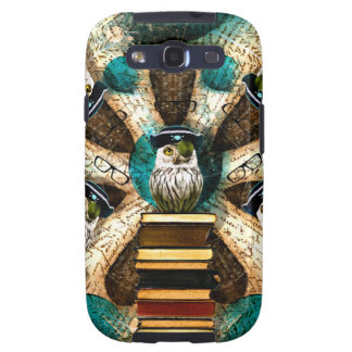 Whimsical Pirate Owl Samsung Galaxy S5 Vibe Case Samsung Galaxy SIII Cover