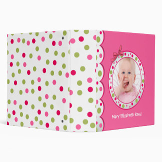 Whimsical Polka Dot Baby Photo Binder