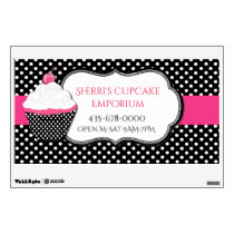 Whimsical Polka Dot Bakery Wall Decal