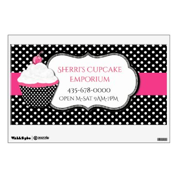 Professional Business Whimsical Polka Dot Bakery Wall Decal