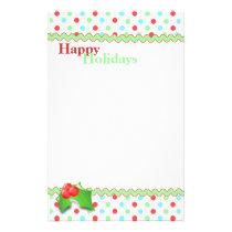 Whimsical Polka Dot Holiday Stationery