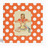 Whimsical Polka Dot Vintage Cook Recipe Organizer 3 Ring Binder at Zazzle
