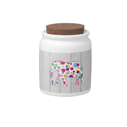 Whimsical Polka dots Elephant Design Candy Dishes