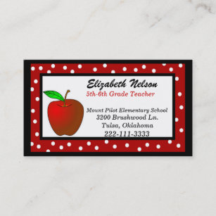 Teacher business cards templates zazzle whimsical polka dots teachers business card cheaphphosting Image collections