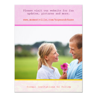 Whimsical Poster Style Photo Wedding Save the Date Card