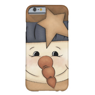 Whimsical Primitive Country Snowman Iphone Case