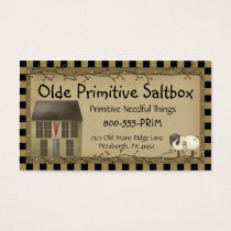 Whimsical Primitive Saltbox House Business Card