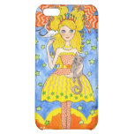 Whimsical Princess with Butterflies and Cat iPhone 5C Covers