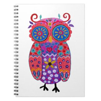 Whimsical Pris Owl Notebook