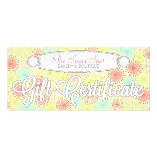 Whimsical Puffs - Custom Gift Certificate Customized Rack Card