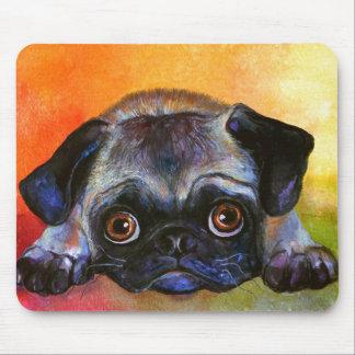 Whimsical Pug Painting #1 Svetlana Novikova Mouse Pad