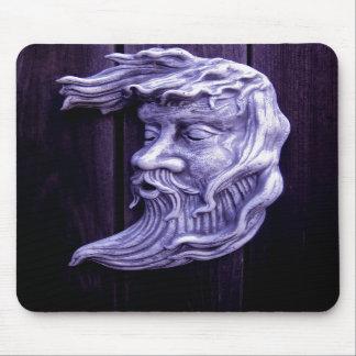 Whimsical Purple Moon mouse pad