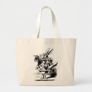 Whimsical Rabbit Tote Bag by Brad Hines