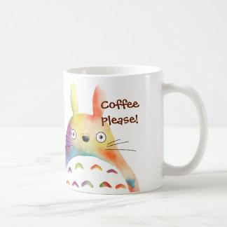 Whimsical Rainbow Animal Coffee Mug