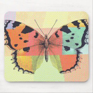 Whimsical Rainbow Butterfly Mouse Pad