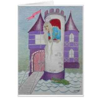 Whimsical Rapunzel in Castle--Orig. Art Card