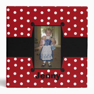 Whimsical Red and Black Polka Dot Photo Binder