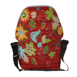 Whimsical Red Floral Garden Flowers Nature Art Bag