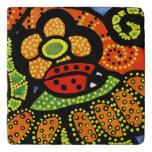 Whimsical Red Ladybug Trivet