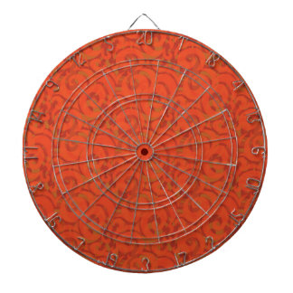 whimsical red pattern dart boards