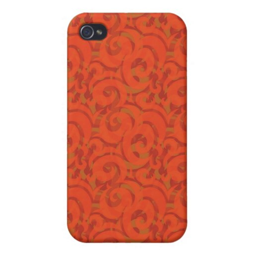 whimsical red pattern iPhone 4 case