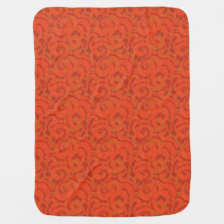 whimsical red pattern swaddle blankets