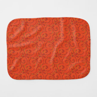 whimsical red pattern burp cloths