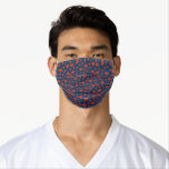 """Whimsical Red White and Blue Hearts Pattern Adult Cloth Face Mask<br><div class=""""desc"""">Bright red white and blue loving hearts pattern masks. Tags: """"red white and blue hearts"""", """"fun love pattern"""", """"cute colorful romantic heart"""", """"adorable polka dot hearts"""", """"silly romance prints"""", """"funny novelty style fashion masks"""", """"whimsical playful quarantine style"""", """"funny masks for him her"""", """"nurses teachers caregiver heroes kids"""", """"social distancing gift...</div>"""