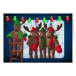 Whimsical Reindeer: Christmas Template Card